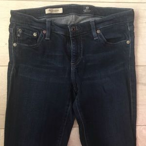 Ag Adriano Goldschmied Pants - AG supper Skinny jeans wash dark blue Sz 28